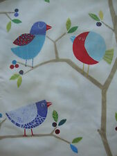 188cm HARLEQUIN What A Hoot  owl & birds cotton curtain fabric remnant