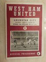 1965/66 Football League- WEST HAM UNITED v LEICESTER CITY - 11th September