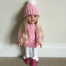 Hand Knitted Clothes Jumper And Hat For Design A Friend &18in Dolls