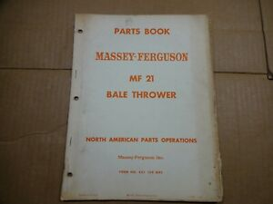 Massey Ferguson MF 21 Bale Thrower Parts book manual 2/65