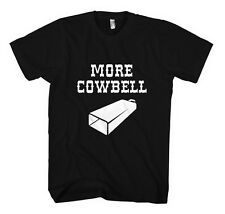 MORE COWBELL FUNNY Unisex Adult T-Shirt Tee Top