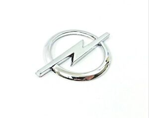 OPEL Silver Chrome Emblem Badge Logo with Sticker 85mm x 60mm