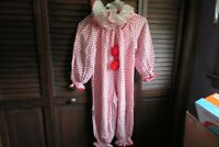 Vintage Halloween clown costume hand made child size