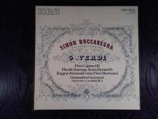 VERDI SIMON BOCCANEGRA DOMINGO RICCIARELLI RCA STEREO 3 LP'S ITALY MINT