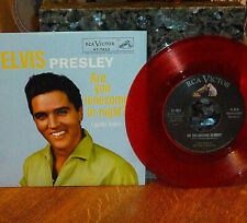 *<* SALE! ELVIS UNPLAYED MINT RED VINYL #1 ARE YOU LONESOME TONIGHT? 45/PIC SLV!