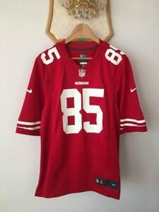 SAN FRANCISCO 49ERS FOOTBALL JERSEY SHIRT NFL NIKE ON FIELD VERNON DAVIS #85 MEN