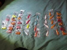 Bullet nose jigs w/413 eagle claw hooks, lot. 85 pieces and 15 shad lures.