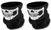 2 x Biker Scarf Face Balaclava Skull Skeleton Neck Warmer Mask Snood Bandana New