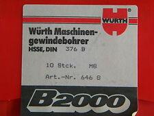 Maschinengewindebohrer, MGB, M  8 Durchgangsloch, DIN 376B,  HSS-E, Würth
