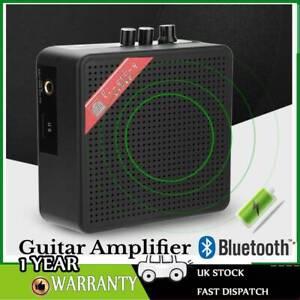 Black Mini Amplifier Clip Bass Practice Amp Speaker for Electric Guitar 5W