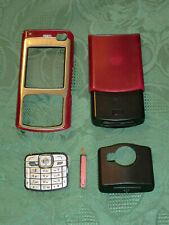 Nokia N70 Housing Fascia Front And Back Red Case With Keyboard