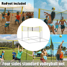Sports Equipment Cross Shaped Indoor Outdoor Volleyball Net Folding Beach New