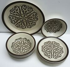 Doverstone Staffordshire 'Heather Gate'Pat10 Plate set joblot 13 Studio Pottery
