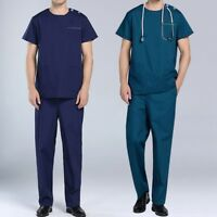 New Hospital Workwear Suit  Short Sleeve Doctor Nursing Uniform Soft Top& Pants