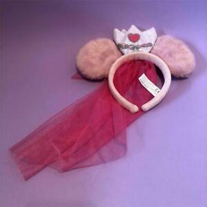 Disney Princess Minnie Mouse Bow Ears Pink Veil Headband Hen Do Bridal Bride