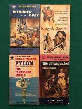 Lot of 4 Vintage WILLIAM FAULKNER Paperbacks, Signet Editions, All 1950s