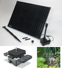 50W Solarpumpe Teichpumpe Gartenteichpumpe Solar Tauchpumpe Teichfilter Filter *