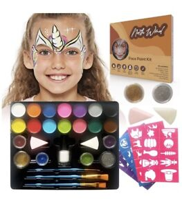 Northwind Face Paint Kit – Complete Face Painting Kit, Reusable Stencils sku b-3