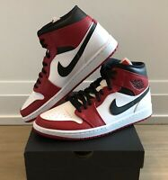 Nike Air Jordan 1 Mid Chicago White Heel Bred (Size 11,12 & 13) NEW/AUTHENTIC