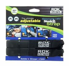 """Rok Straps Motorcycle ATV Quads Adjustable Luggage Bungee 18""""- 60"""" Twin Pack"""