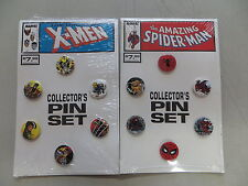 AMAZING SPIDER-MAN AND X-MEN COLLECTOR'S PIN SETS MARVEL WOLVERINE