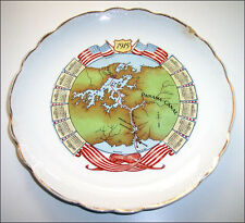 Vintage 1915 souvenir PPIE Panama Pacific Expo Canal map Homer Laughlin plate