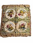 Vintage Spanish Matador Bullfight Tapestry Rug All Over Printed Rockabilly Art