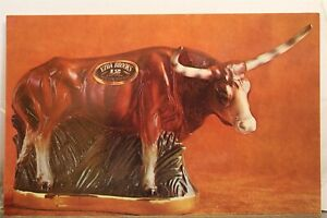 Ad Ezra Brooks Texas Longhorn Postcard Old Vintage Card View Standard Souvenir