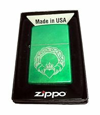 Zippo Custom Lighter Celtic Clauddagh with Heart Regular Meadow Pocket New