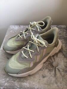 Adidas ozweego Size 7.5 Pale Green / Sage Grey Suede