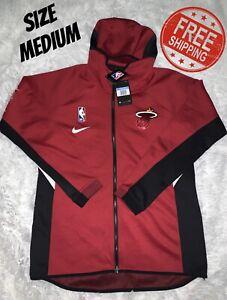 NWT NIKE THERMA FLEX Miami Heat NBA Hoodie Jacket   Men's MEDIUM