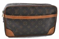 Authentic Louis Vuitton Monogram Compiegne 28 Clutch Hand Bag M51845 LV C1403