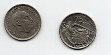 España ( Spain ) : 25 Pesetas 1957 (72) escasa ( buen ejemplar )