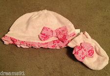 Princess Aurora Layette Hat Cap & Mitten Set Baby Infant Disney 0-6 Month NWT