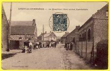 cpa RARE 59 - LIGNY en CAMBRÉSIS (Nord) Le QUARTIER LIBRE UNION Cachet centré