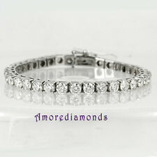 21.5CT H/I I1/2 NATURAL EARTH MINED DIAMOND TENNIS BRACELET 14K WHITE GOLD 7.25""