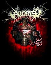 ABORTED cd lgo EXCISE THE WOMB Slaughter Official SHIRT LAST XL New oop
