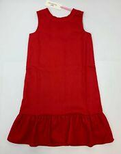 Vineyard Vines Girls Drop Waist Pointe Dress in Red Velvet Size Small (7-8)  NEW