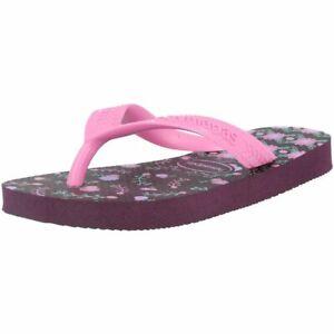 Havaianas Kids Flores Aubergine Rubber Infant Flip Flops Sandals