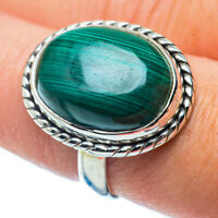 Malachite In Chrysocolla 925 Sterling Silver Ring Size 8.5 Jewelry R35952F