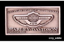 HARLEY DAVIDSON 100TH ANNIVERSARY SQUARE PEWTER PIN **OBSOLETE ITEM ** 2003