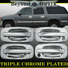 2000-2006 CHEVY SUBURBAN/TAHOE/YUKON Chrome Door Handle Cover 4dr With Psgr Key