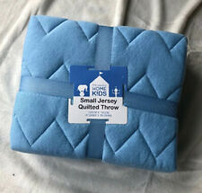 Cosy Primark Kids Blue Jersey Quilted Travel Blanket Throw Boys Bedding Bedroom
