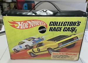 Vtg 1969 Mattel Hot Wheels 4976 Collectors Race Case Storage Redline 24 Car Tray