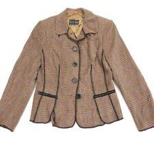 Rena Lange Women's Wool/Alpaca Blazer Jacket Brown/Orange/Pink • Size 8 | 42 IT