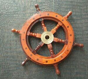 Schiffsrad Antik Steuerrad Schiffsteuerrad 30cm Schiff Piraten Deko Boot Holz