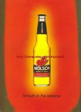 "Molson Beer ""Smooth In The Extreme""1998 Magazine Advert #2286"