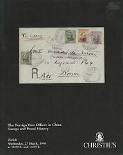 CHRISTIE'S FOREIGN POST OFFICES IN CHINA Stamps Postal History Catalog 1996