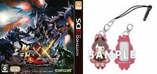 NEW [Amazon Limited] 3DS Monster Hunter Double Cross with Rubber mascot cleaner