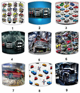 American Muscle Car Lampshades, Ideal To Match Wall Decals